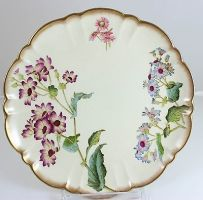 antique-english-china-cabinet-plate-bailey-banks-biddle-9294-gold-flowers-cream-1ade091be78652bbcce6d7432d12aed3
